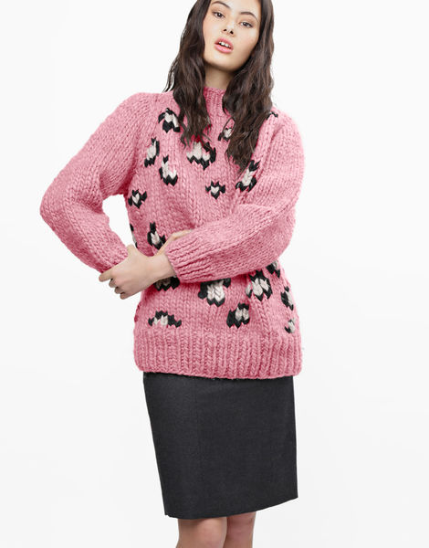 Jungle boogie sweater csw pink lemonade