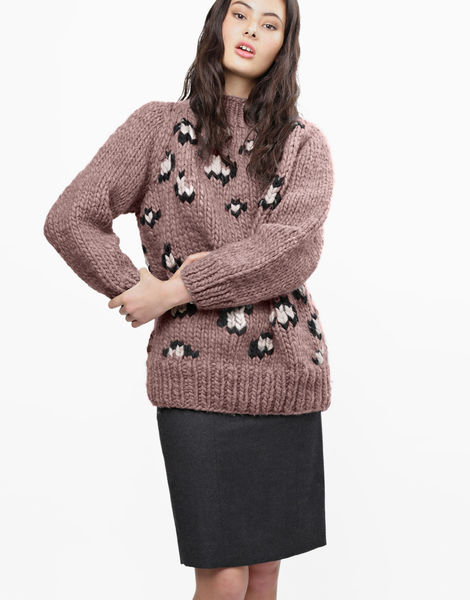 Jungle boogie sweater csw mellow mauve