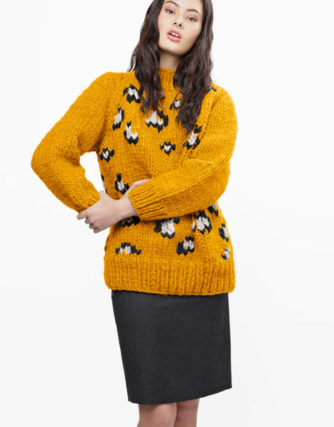 Jungle boogie sweater csw mustard sally