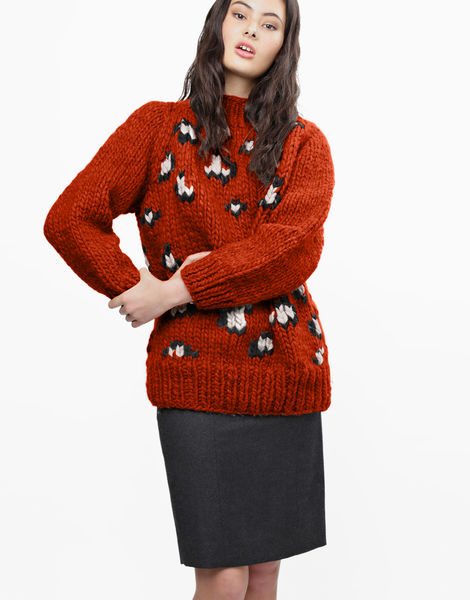 Jungle boogie sweater csw red ochre