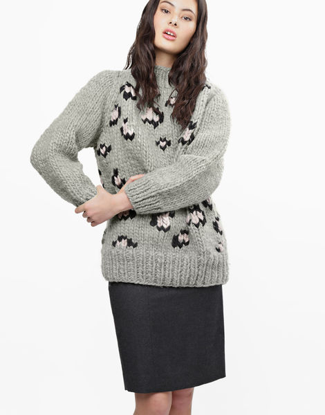 Jungle boogie sweater csw rocky grey