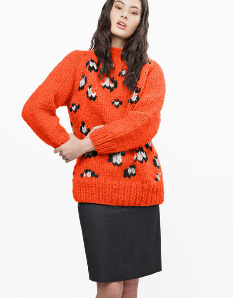 Jungle boogie sweater csw rusty orange