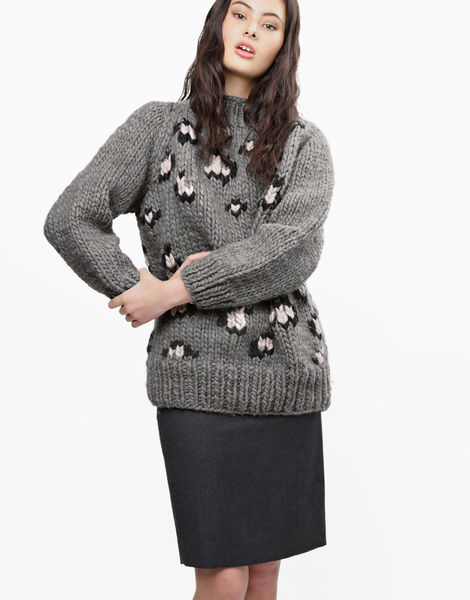 Jungle boogie sweater csw tweed grey
