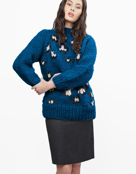 Jungle boogie sweater csw sherpa blue