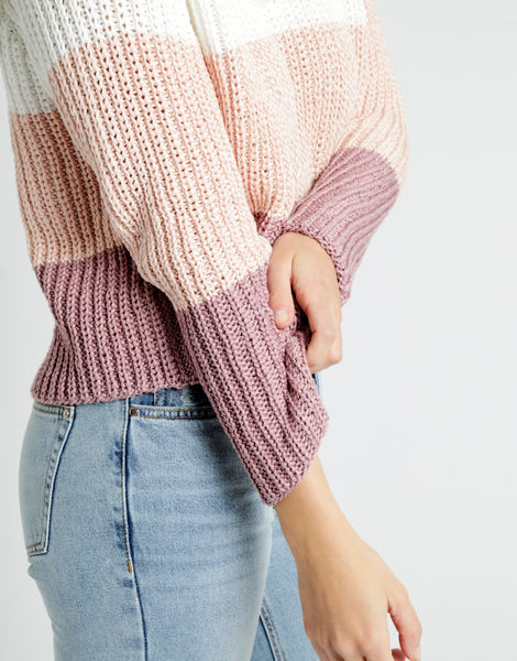 We can't sweater tt mauve combo 06