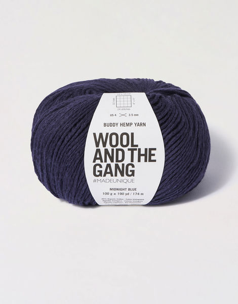 Buddy hemp yarn bhy midnight blue