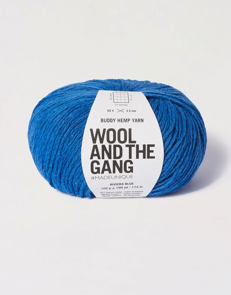 Buddy hemp yarn bhy riviera blue