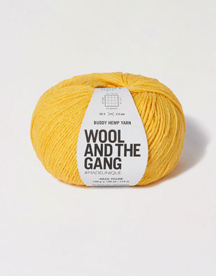 Buddy hemp yarn bhy soliel yellow