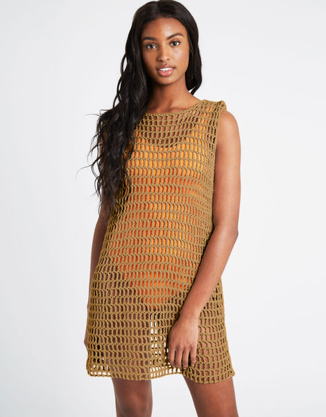 Peggy dress pistachio index buddy hemp tropez tan