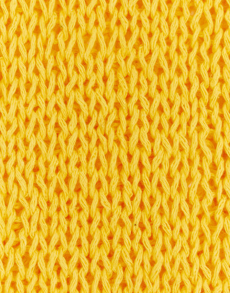 Knitted swatch buddy hemp yarn bhy soliel yellow buddy hemp soliel yellow