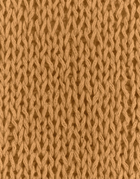Knitted swatch buddy hemp yarn bhy soliel yellow buddy hemp tropez tan