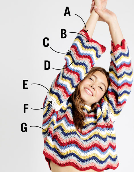 Malibu sweater labelled colour picker