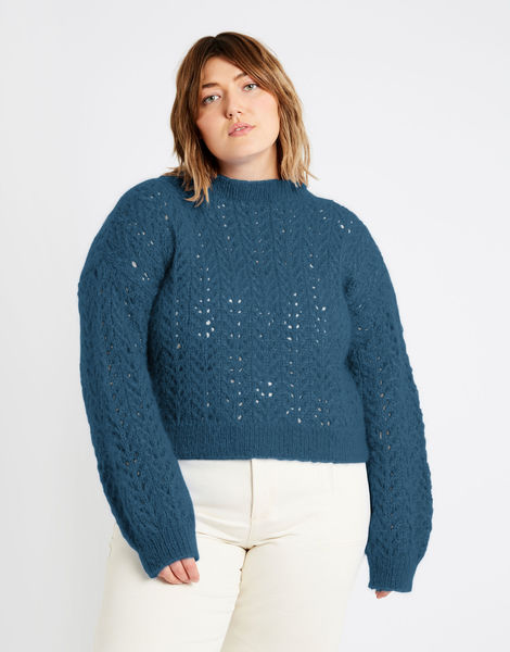 Toto sweater tcm mohair blue steel %281%29