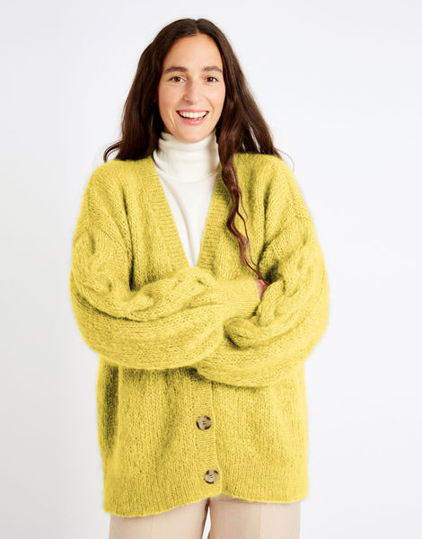 Miles cardigan tcm take care mohair tcm lemon sorbet