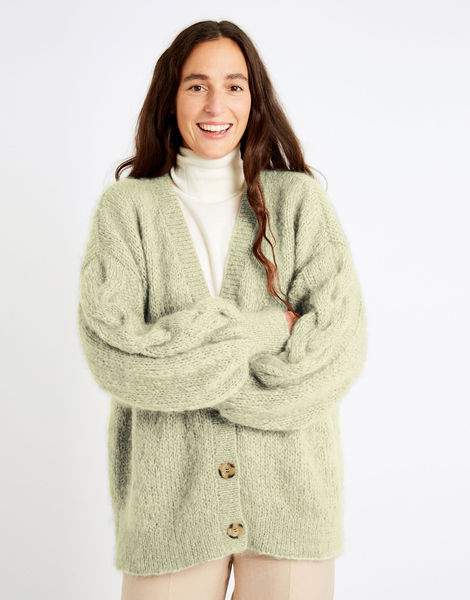 Miles cardigan tcm take care mohair tcm lime sherbert