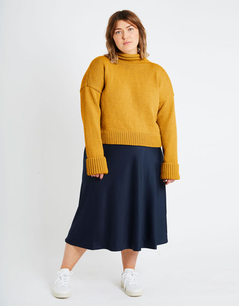 Holiday sweater sty stw mustard sally