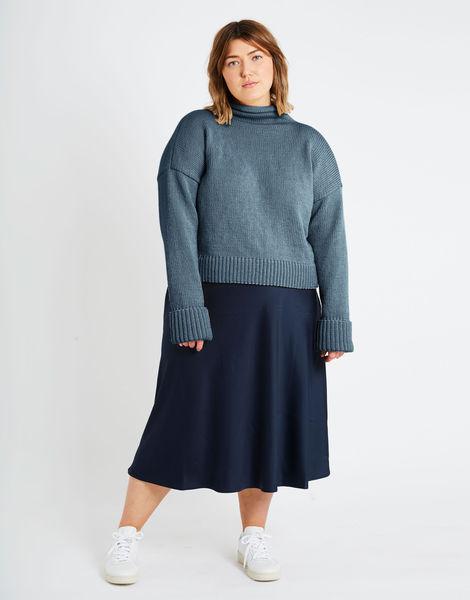 Holiday sweater sty stw slate blue