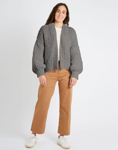 Iris cardigan csw csw tweed grey