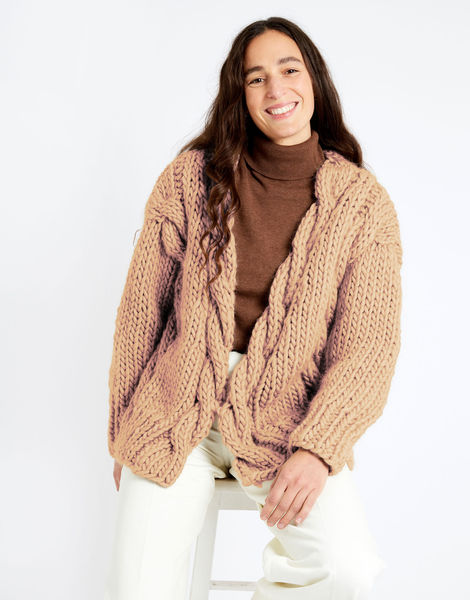 Robison cardigan csw crazy sexy wool csw minderal pink