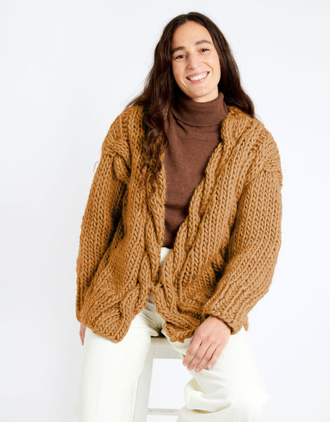 Robison cardigan csw crazy sexy wool csw brown sugar