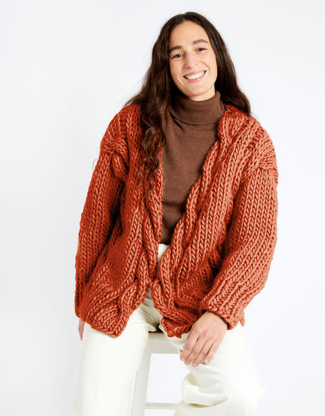 Robison cardigan csw crazy sexy wool csw earthy orange