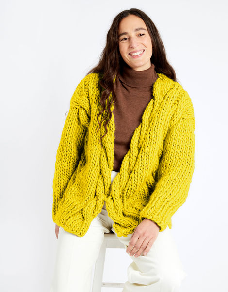 Robison cardigan csw csw big bird yellow