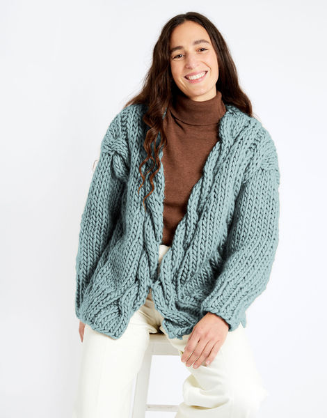 Robison cardigan csw csw duck egg blue