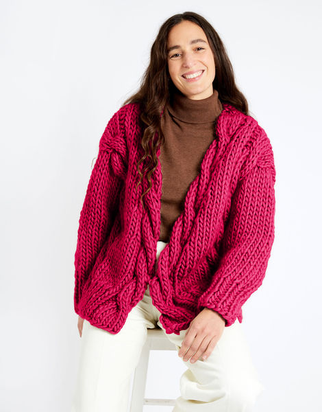 Robison cardigan csw csw hot punk pink