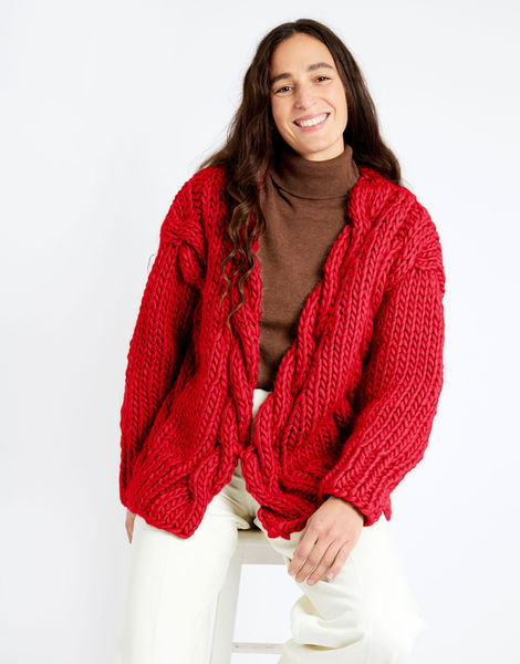 Robison cardigan csw csw lipstick red