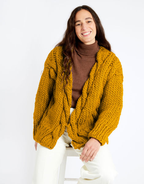 Robison cardigan csw csw mustard sally