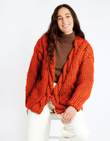 Robison cardigan csw csw rusty orange