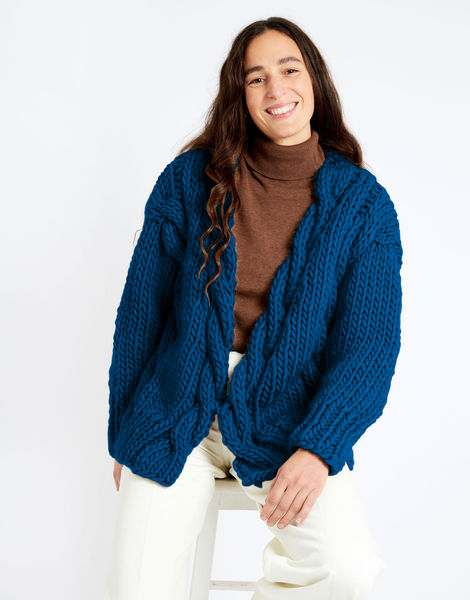 Robison cardigan csw csw sherpa blue