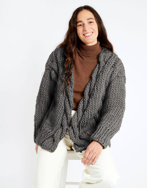 Robison cardigan csw csw tweed grey