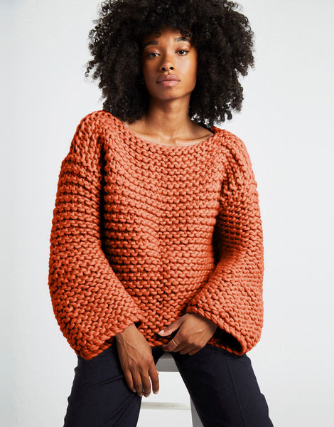 Dreamin jumper csw red ochre crazy sexy wool csw earthy orange