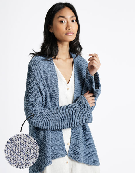 Summer night cardigan bjy bjy reclaimed blue