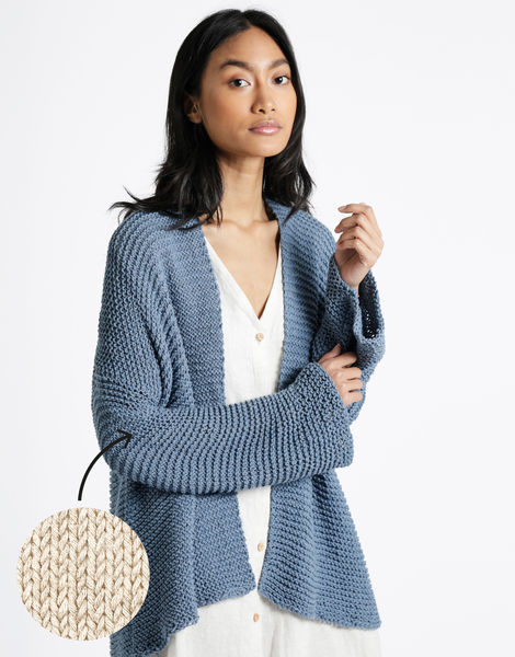 Summer night cardigan bjy ecru