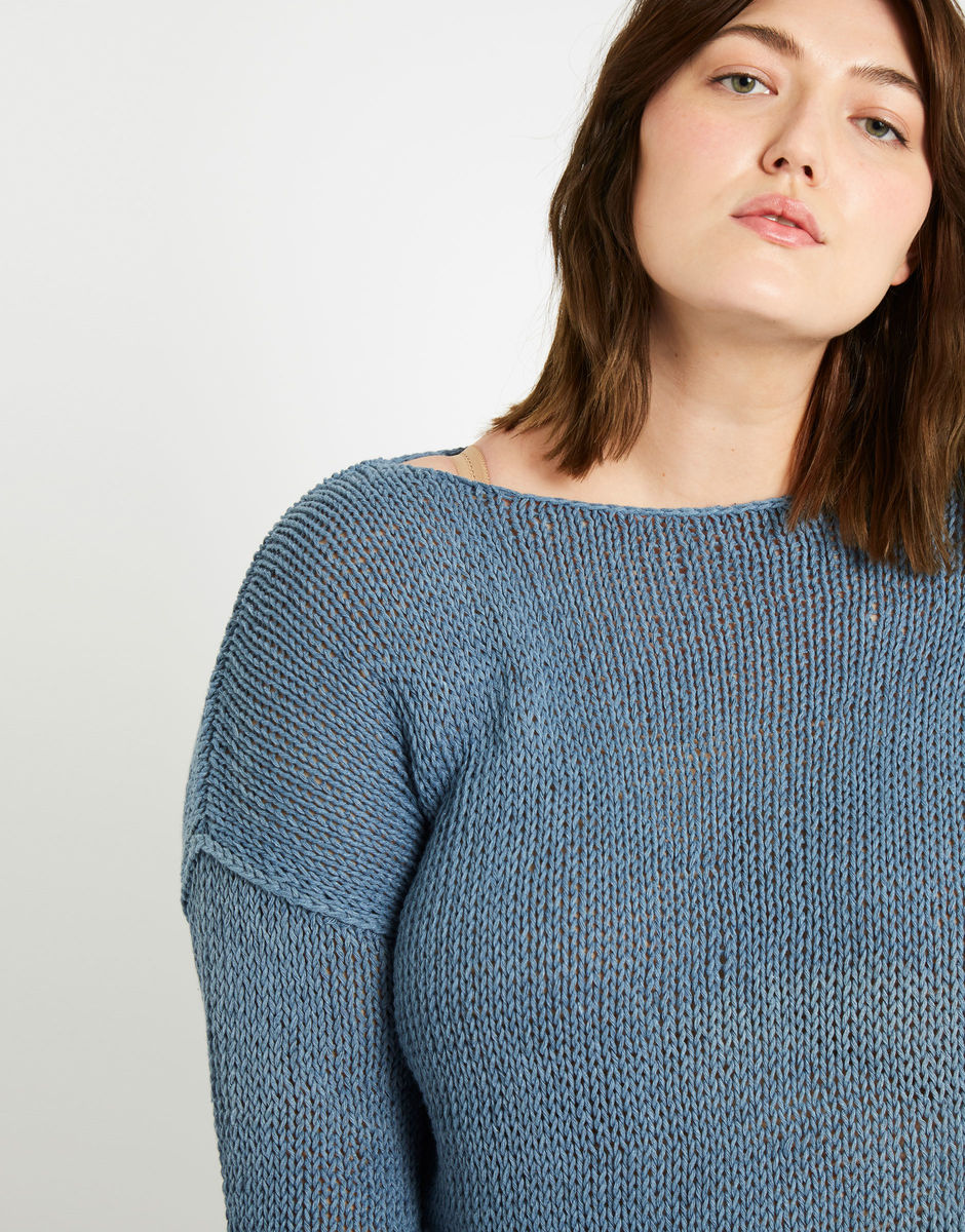 Cotton summer cardigan knitting kit UK size 14-16