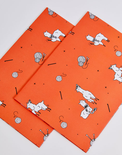 Watg wrapping paper red 03