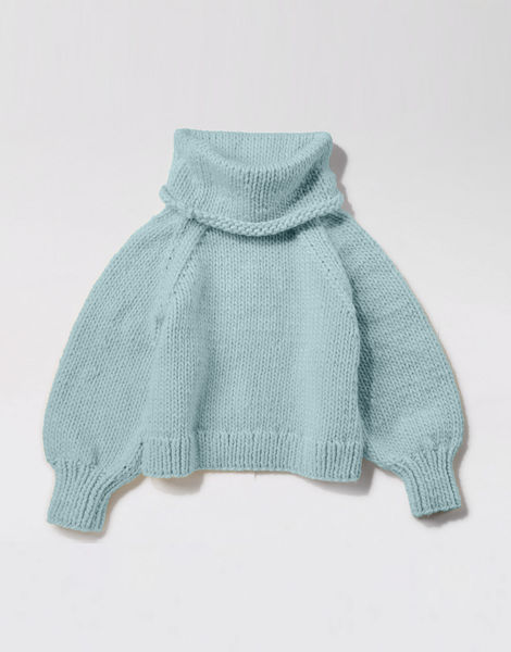 Patrick mcdowell sweater csw duck egg blue