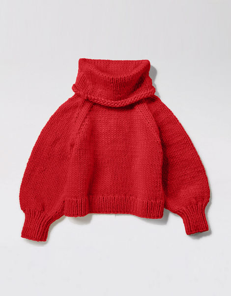 Patrick mcdowell sweater csw lipstick red