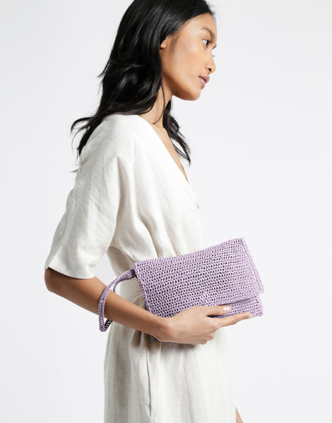 Money honey clutch desert palm 3 raffia lovely lilac