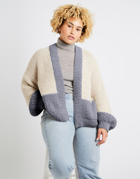 Grace cardigan two tone alpachino merino am tweed grey