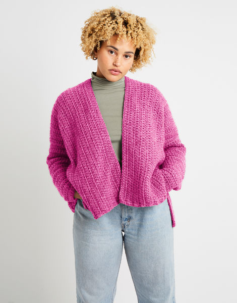 Kelly cardigan alpachino merino am bubblegum pink