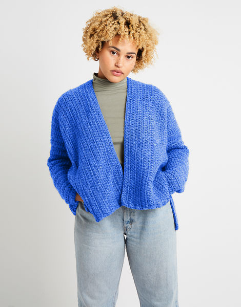 Kelly cardigan alpachino merino am cornflower blue