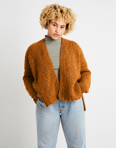 Kelly cardigan alpachino merino am chestnut brown