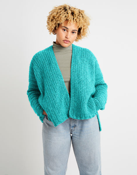 Kelly cardigan alpachino merino am magic mint