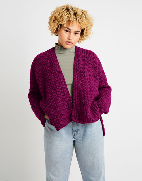 Kelly cardigan alpachino merino am margaux red