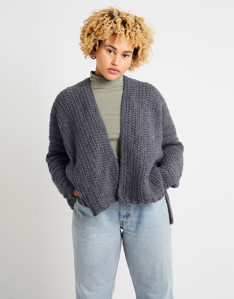 Kelly cardigan alpachino merino am tweed grey