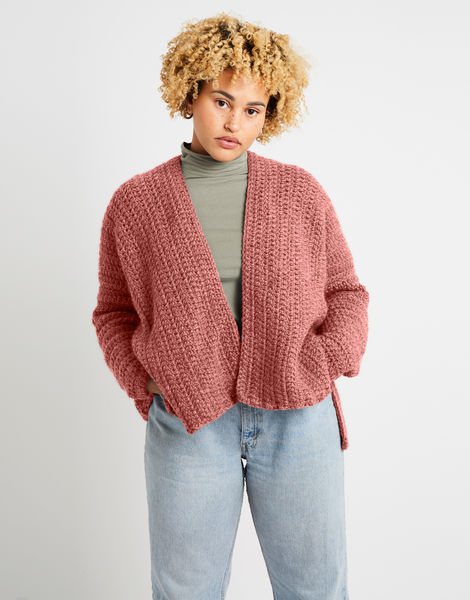 Kelly cardigan alpachino merino am rocksalt red