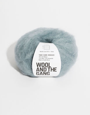 Mohair blue chalk
